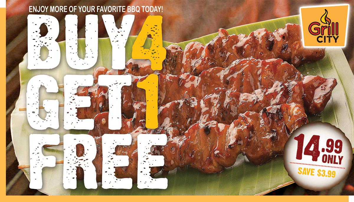 Buy 4 Get 1 Free BBQ
